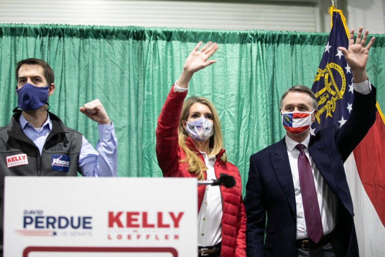 Kelly Loeffler and David Perdue