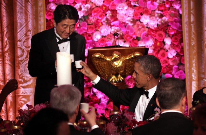 Obama and Shinzo Abe