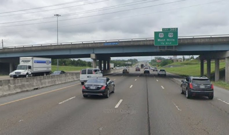 Interstate 40 in Knoxville, Tennessee