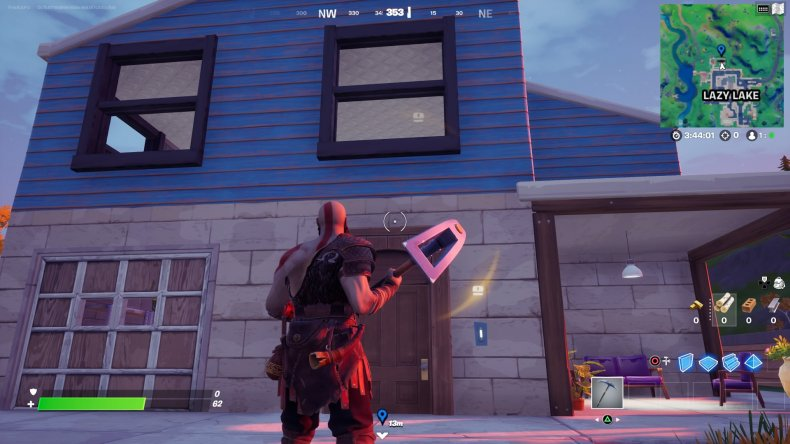 fortnite clue locations lazy lake house