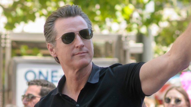 California Governor Gavin Newsom at Pride Parade