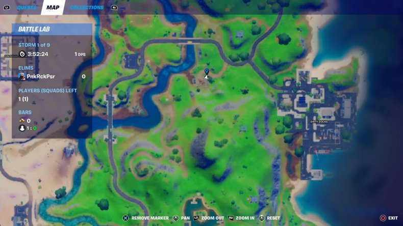 fortnite car part location 1 map