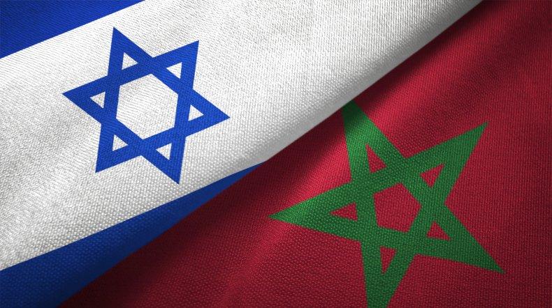 israel, morocco, flags