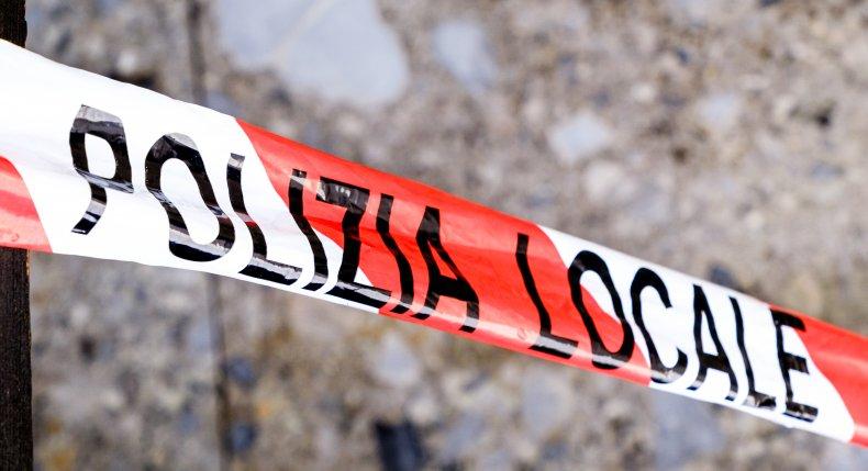 Italian Police Tape Used for Crime Scenes