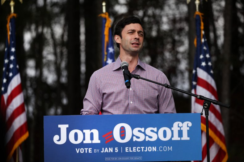 jon ossoff david perdue polls 3 weeks