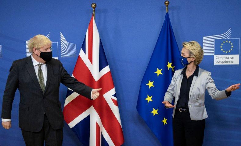 Boris Johnson Ursula von der Leyen EU