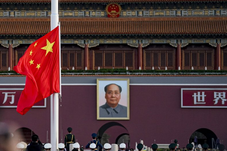 Chinese National Flag at Tiananmen Square