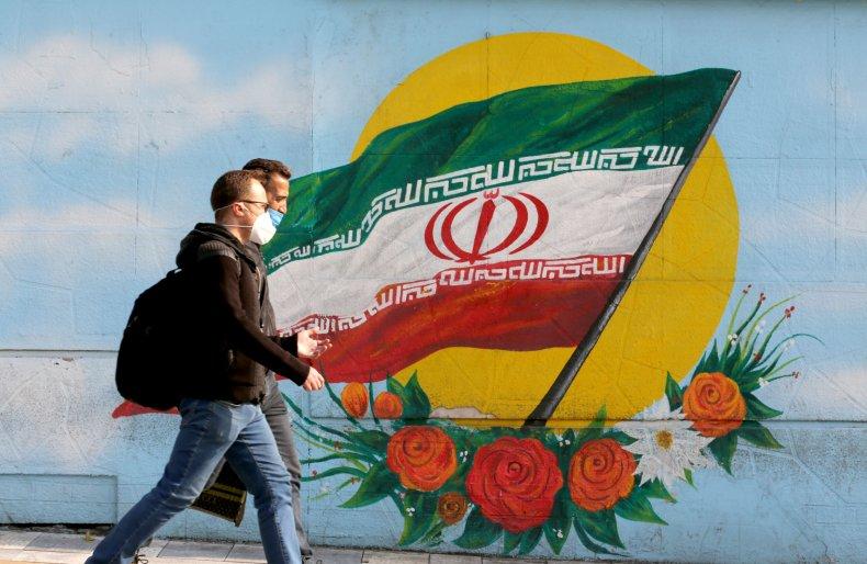 Iran flag in Tehran amid JCPOA concerns