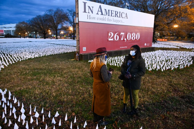 Washington D.C. COVID-19 deaths art installation 2020