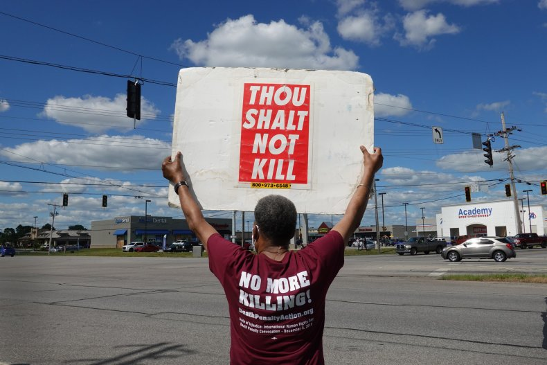 Death Penalty Protest in Terre Haute, Indiana