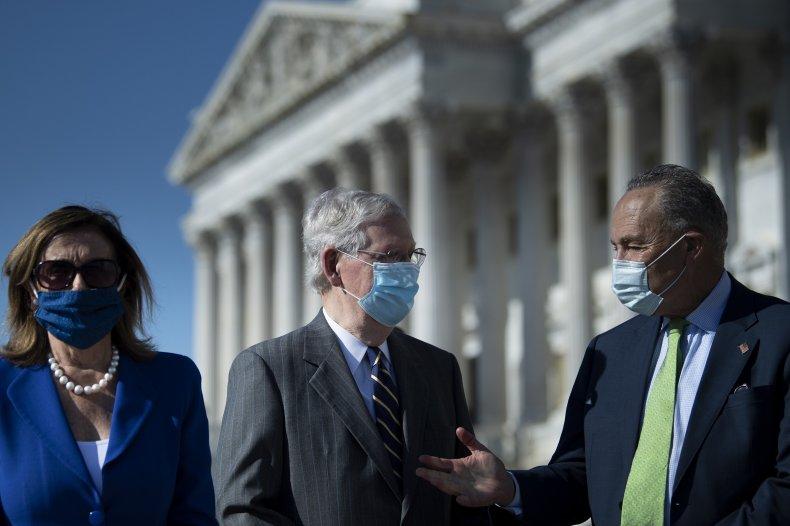Chuck Schumer, Nancy Pelosi, Mitch McConnell
