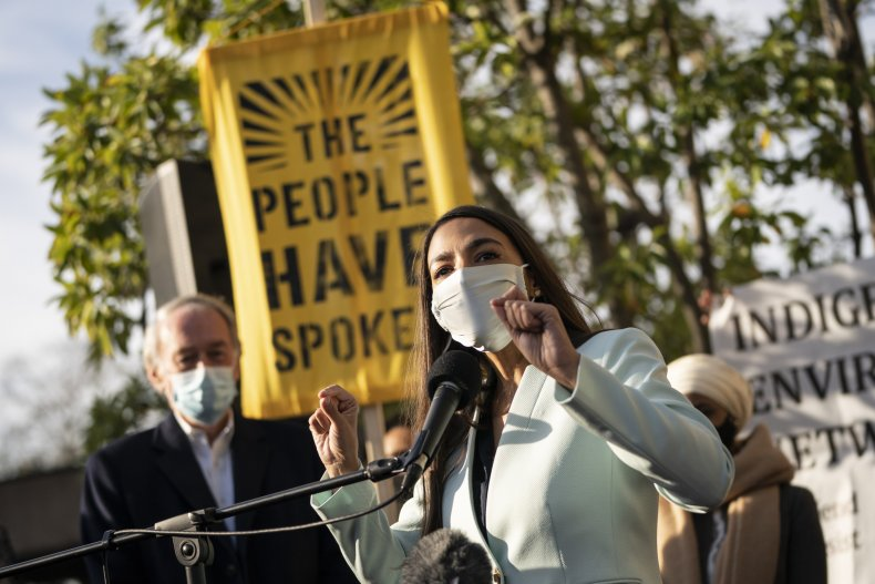 AOC Speaks Climate Change in Washington D.C.