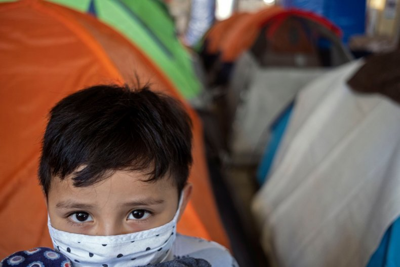 A boy at the  Juventud 2000 shelter