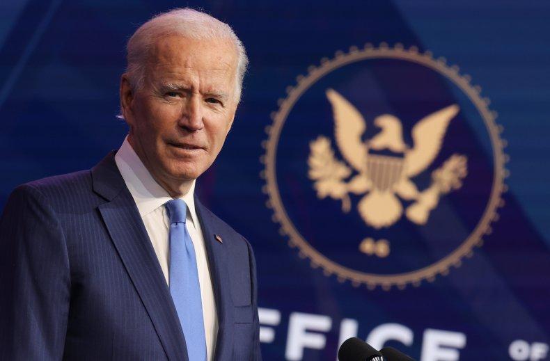 Joe Biden speaks in Wilmington, Delaware