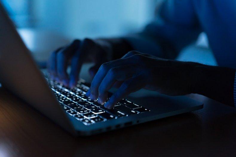 Man Typing stock image