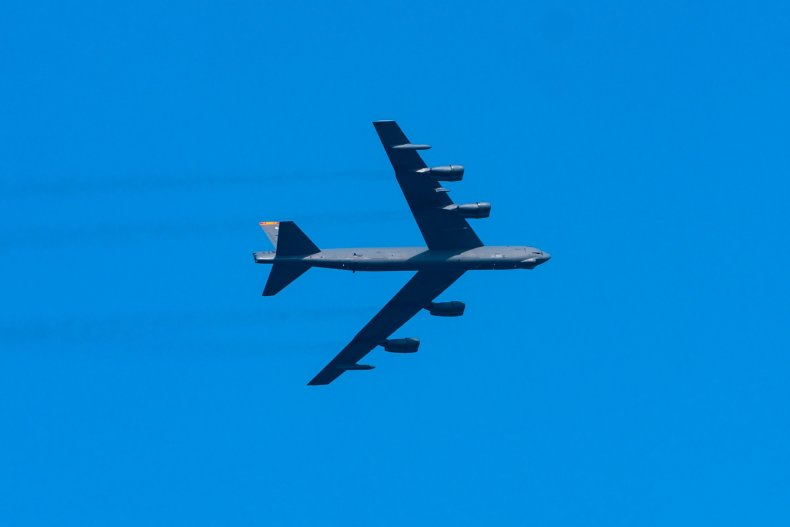 B-52 nuclear bomber over NYC July 4