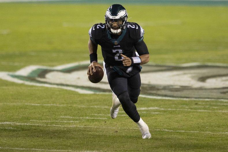 Jalen Hurts of the Philadelphia Eagles