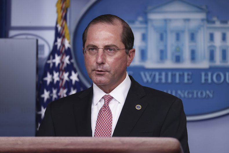 Alex Azar speaks at White House briefing