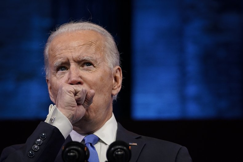 joe biden coughs during speech