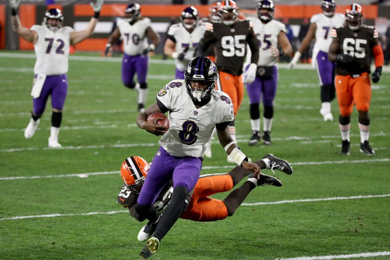 Baltimore Ravens and Cleveland Browns