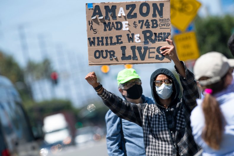 Protests against Amazon workplace practices in California