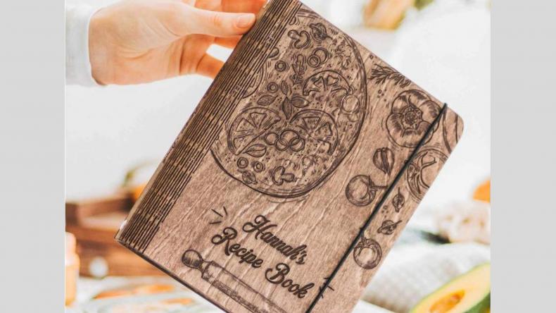 EnjoyTheWood™ Recipe Book Wooden Journal