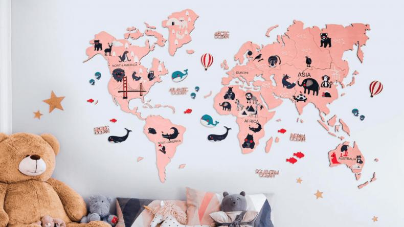 EnjoyTheWood™ Kids Wooden World Map