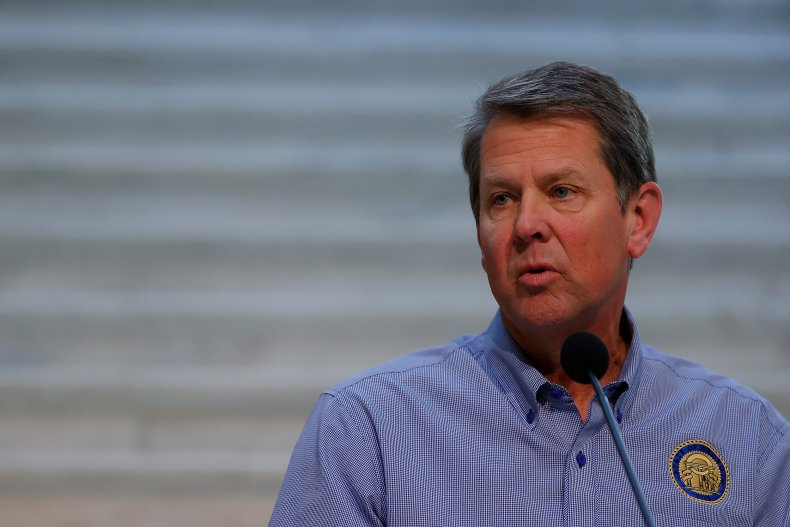 Governor Brian Kemp Speaks to the Media