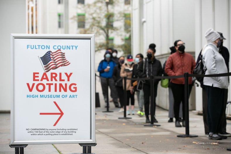 georgia in-person early voting Senate runoffs