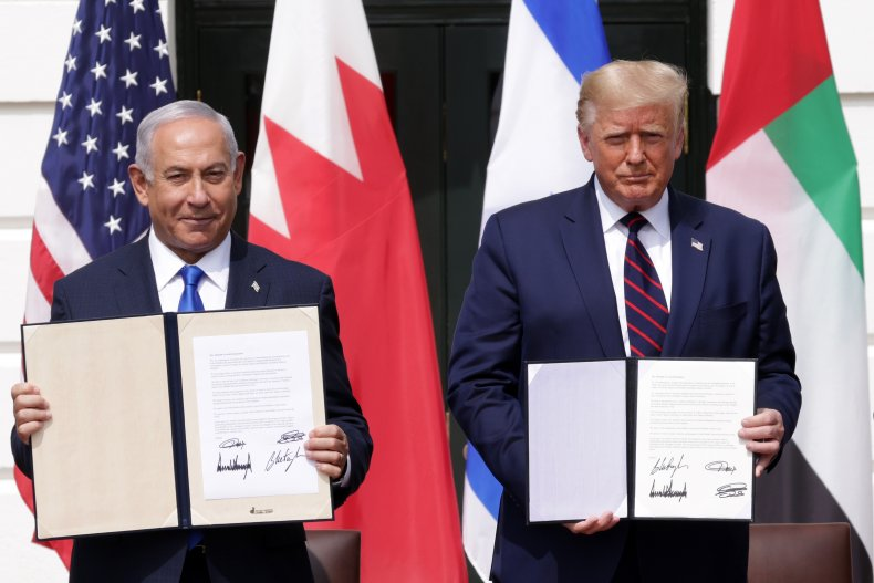 Israeli Prime Minister Benjamin Netanyahu and President