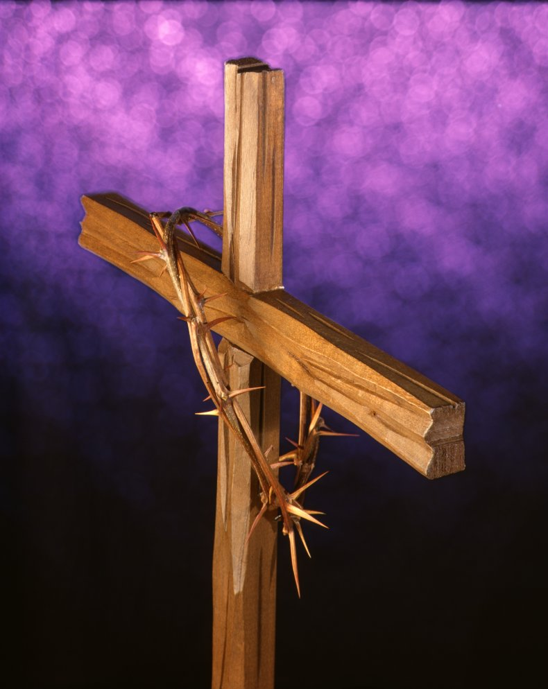 Crucifix Crown of Thorns Stock Image