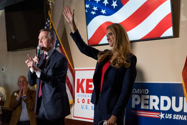 kelly loeffler and david perdue campaign senate