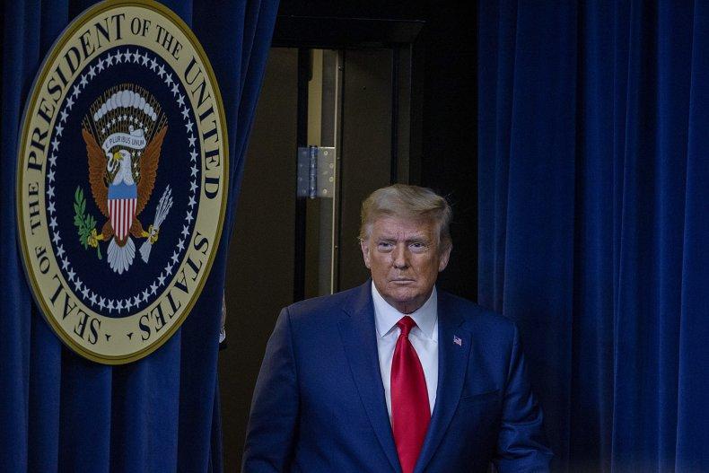 Donald Trump Arrives at Operation Warp Speed