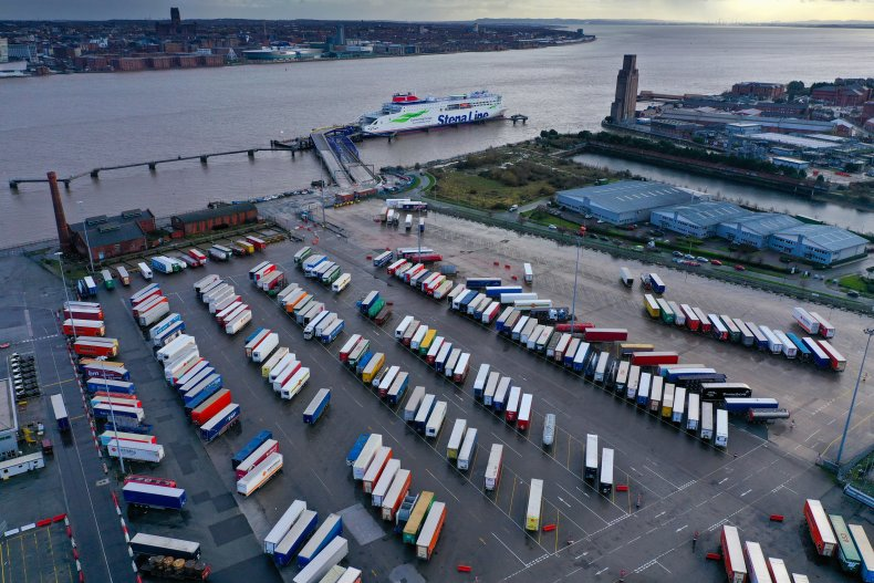 Birkenhead-Belfast port Stena Edda U.K. December 2020