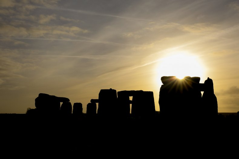 Stonehenge during the winter solstice