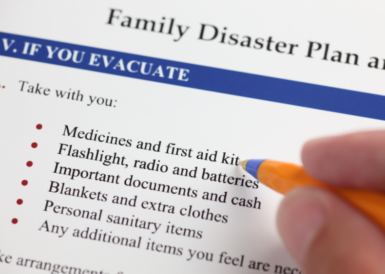#1. Make an emergency plan with your family