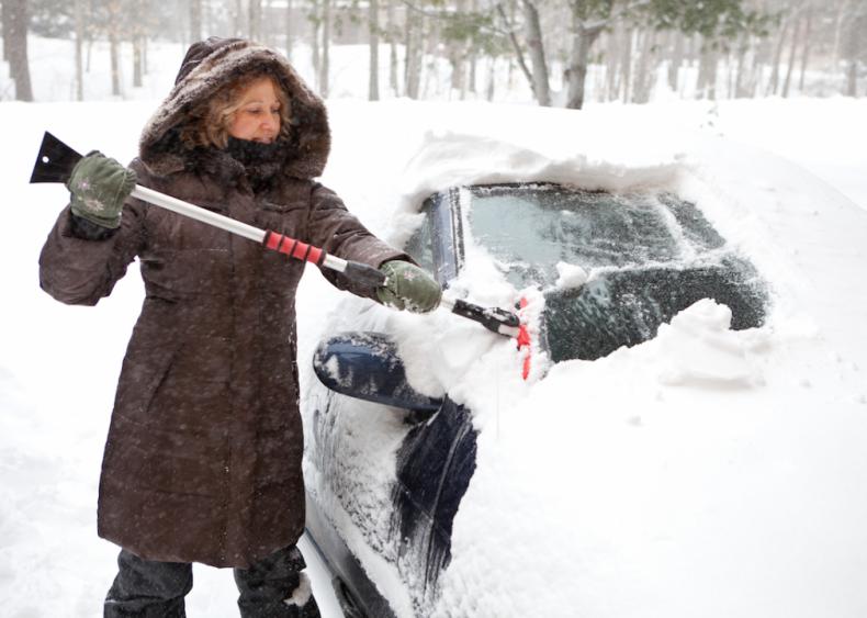 #15. Buy a windshield ice scraper