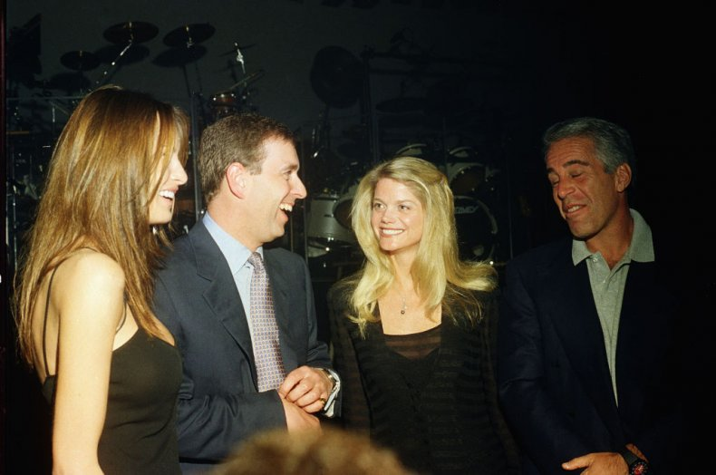 Prince Andrew, Jeffrey Epstein and Gwendolyn Beck