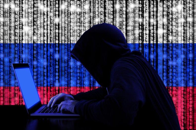 Hacker Russia Stock Image