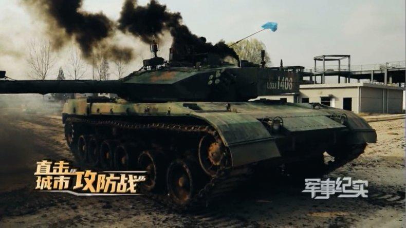PLA Tanks Join Urban Warfare Drill
