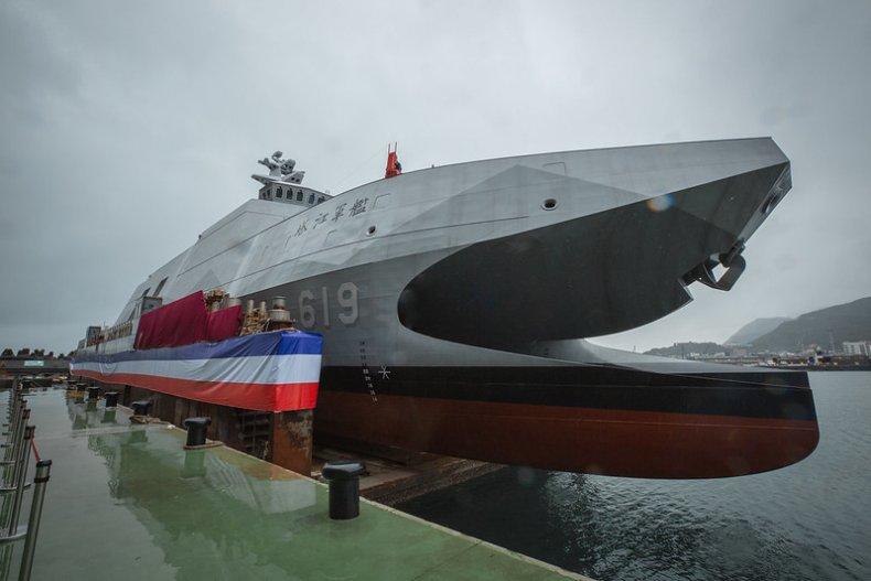 Taiwan Unveils New 'Aircraft Carrier Killer' Corvette