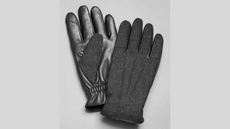 Jos A Bank Wool Leather TouchPoint Gloves