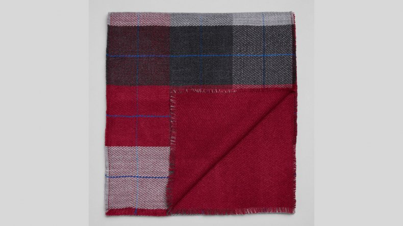 Jos A Bank Double-Faced Plaid Scarf