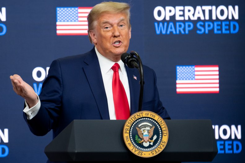 Donald Trump Speaks About Operation Warp Speed