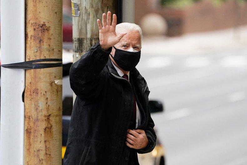President-elect Joe Biden in Wilmington, Delaware