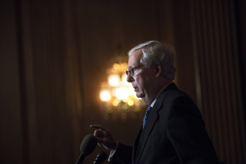 mitch mcconnell answers questions in capitol
