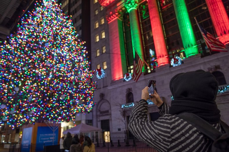 New York Stock Exchange Christmas December 2020