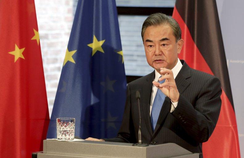 China minister Wang Yi speaks in Berlin