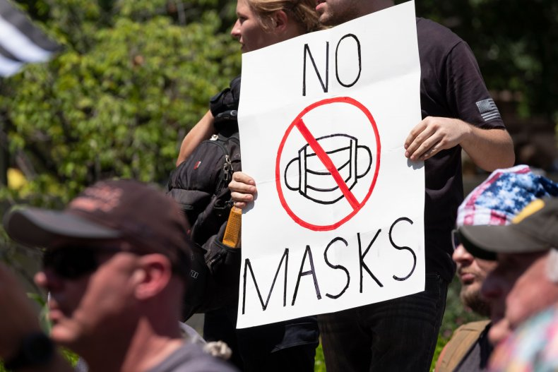 anti-mask protesters
