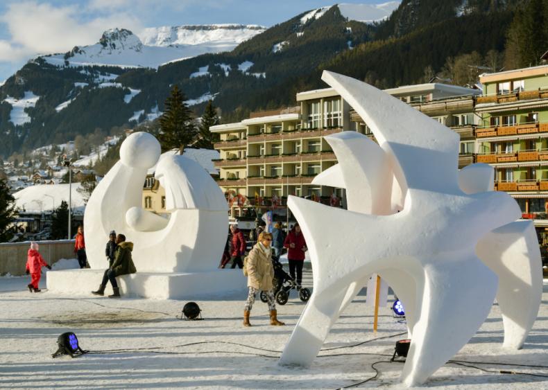 World Snow Festival in Grindelwald, Switzerland